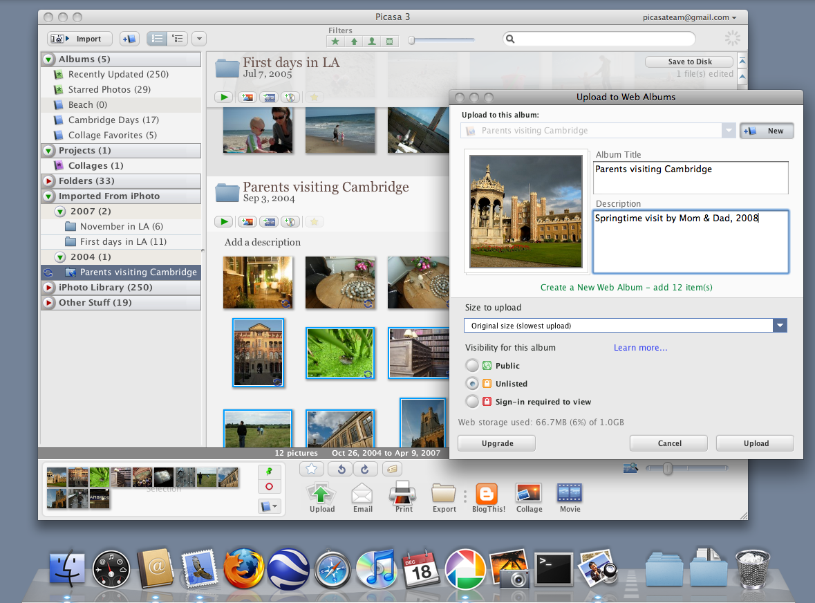 Picasa for the Mac