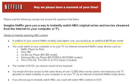 Netflix HBO Content Survey