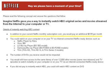 Netflix HBO Content Survey