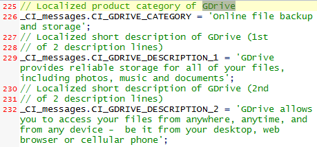 GDrive Reference