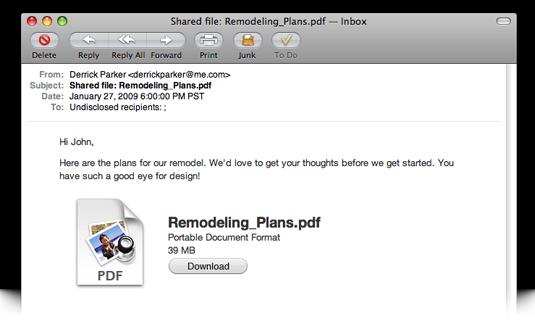 MobileMe File Sharing 2