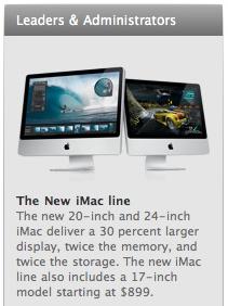 "17"" iMac, March '09"