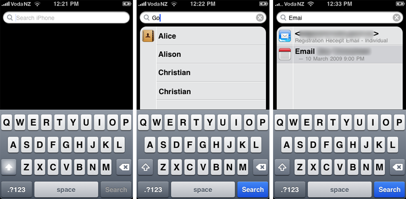 iPhone 3.0 Spotlight