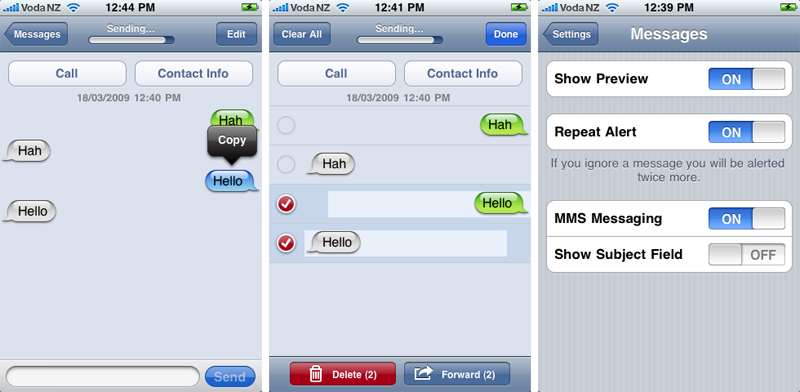 iPhone 3.0 Messages