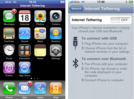 iPhone 3.0 Tethering